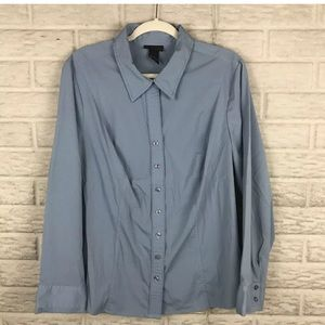 Lane Bryant Button Front Shirt Career Casual
